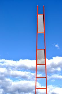 Interesting ladder with sky backdrop