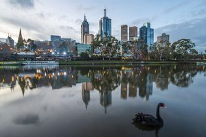 Melbourne city in the evening, Australia