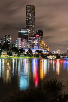 Melbourne city at night,