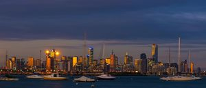 Melbourne City Sunset from Williamstown