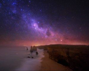 Milky Way over the Twelve Apostles Rock Formation