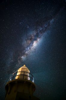 Milky Way and the lighthouse