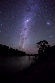 Milky Way over the Murray River. Australia.