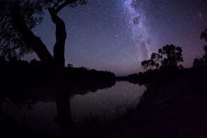 Milky Way over the Murray River. Australia