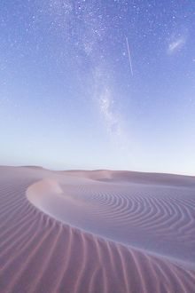 Milky Way over a sand dune. South Australia