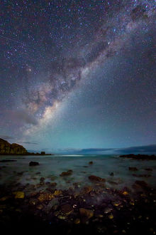 Milky Way over Sleaford Bay. South Australia.