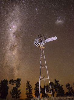milkyway and a windmill