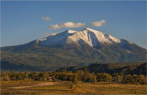 Mount Sopris view, Colorado, south west United States of America.