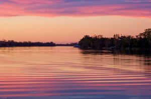 Murray River sunset. South Australia.