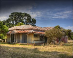 Old and abandoned derelict farmhouse, near Portland, western Victoria.