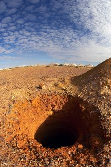 Opal mining area in Coober Pedy in the South Australian Outback.