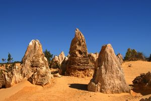Pinnacles are limestone formations