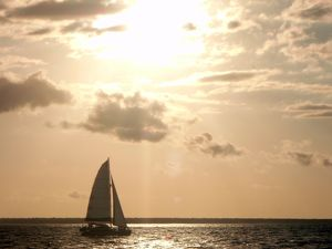 Sailing into the sunset in Darwin.