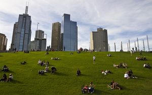 Sky line from Birrarung Marr