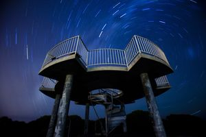 Star trails and platform