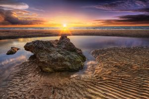 Sunset at Casuarina Beach in Darwin, Northern Territory, Australia