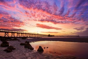 Sunset at Moonta Bay, Copper Coast Region, Northern Yorke Peninsula, South Australia