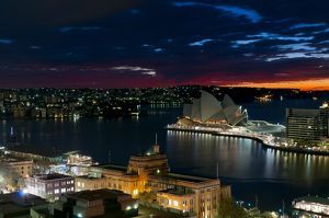 Sydney Harbour and Sydney Opera House at dawn