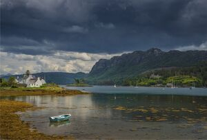 A view to Plockton Harbour, in the county of Ross, Scottish highlands.