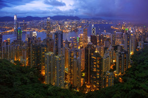 View of Victoria Harbour, Kowloon and Hong Kong Island From Victoria Peak, Hong Kong