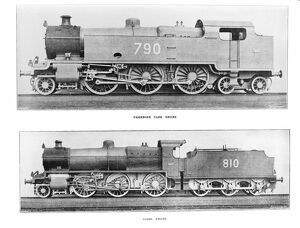 2-6-4 tank engine number 790 'River Avon' and a class N 2-6-0 goods locomotive