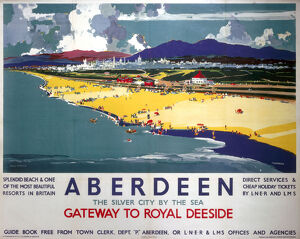 'Aberdeen, Gateway to Royal Deeside', LNER/LMS poster, 1935.