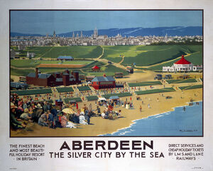 'Aberdeen - The Silver City by the Sea', LMS/LNER poster, 1923-1947.