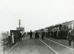 Aintree Racecourse station, Lancashire & Yorkshire Railway, November 1912