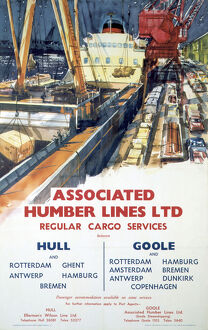 'Associated Humber Lines', BR poster, 1961.