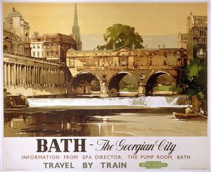 'Bath - The Georgian City', BR poster, 1950.