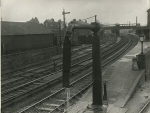 Bishops Stortford station, looking South from North signal box. Showing water column