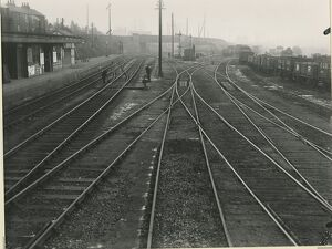 Bishop's Stortford station, view south from just beyond the end of the down platform