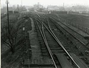 Braintree Station, about 1911, looking west. Main station building in the centre