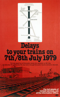 BR(E) poster. New Signal Box at Doncaster -