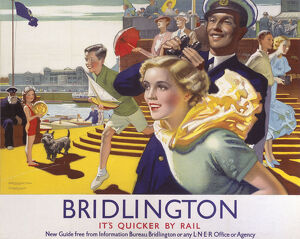 'Bridlington: It's Quicker By Rail', LNER poster, 1923-1947.