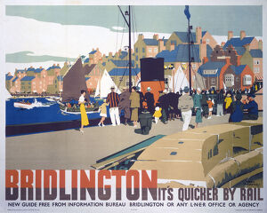 'Bridlington: It's Quicker by Rail', LNER poster, 1935.