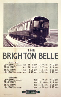 'The Brighton Belle', BR poster, 1953.