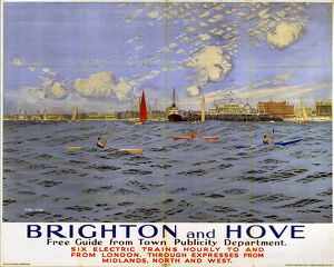 'Brighton and Hove', SR poster, 1923-1947.