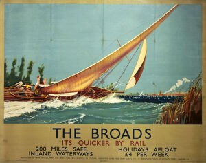'The Broads', LNER poster, 1934.