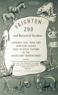 BR(SR) poster. Paignton Zoo and Botanical