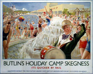 'Butlin's Holiday Camp, Skegness', LNER poster, 1930.
