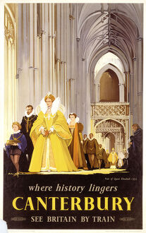 'Canterbury', BR poster, 1952.