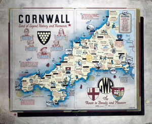 england/cornwall/cornwall land legend history romance gwr poster