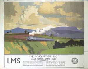 'The Coronation Scot Ascending Shap Fell', LMS poster, 1937.
