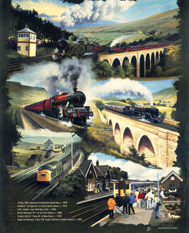 Cropped version of 'Settle-Carlisle Line', Regional Railways poster, 1992.