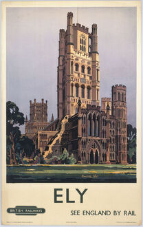 'Ely - See England by Rail', BR poster, 1950.