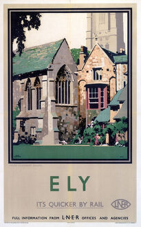 'Ely: Prior Crauden's Chapel', LNER poster, 1923-1947.