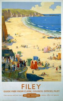 'Filey', BR poster, 1948-1965.