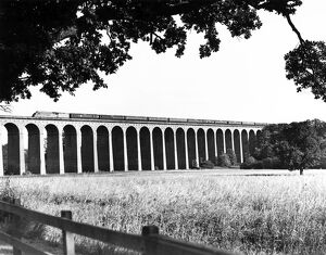 The down 'Flying Scotsman' crossing Digswel Viaduct