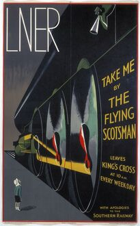 'Take Me by The Flying Scotsman', LNER poster, 1932.